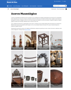 Pagina Acervo Museologico do Site Museu do Ouro1